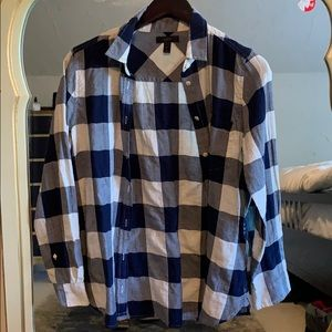 J.Crew gingham shirt never worn